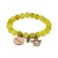 Coco 88 Lime-Yellow Bead Bracelet Lime, Beaded Bracelets, Jewels, Beads, Yellow, Beading, Limes, Jewerly, Pearl Bracelets