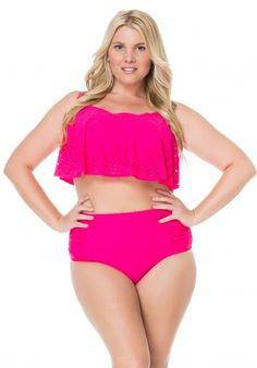 6f10ca65a1a Jessica Simpson Plus Size Swimwear - One Piece Suits - Underwire Tops