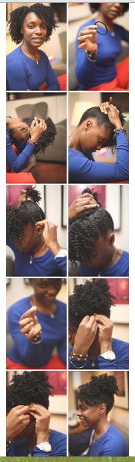 i need to try this <3 styling an old twist out on natural hair
