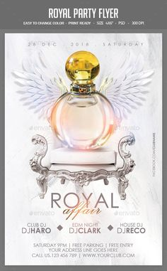 #Royal Party Flyer - Clubs & Parties Events Free Flyer Templates, Event Flyer Templates, Invitation Design, Invitations, Royal Party, Cute Designs To Draw, Music Flyer, Event Poster Design, Christmas Post