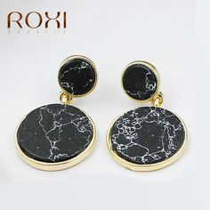 Furniture Good Kinel 2018 Cheap Punk Style Metal Big Drop Earring For Women Personality Round Statement Fashion Dubai Gold Party Jewelry Skillful Manufacture