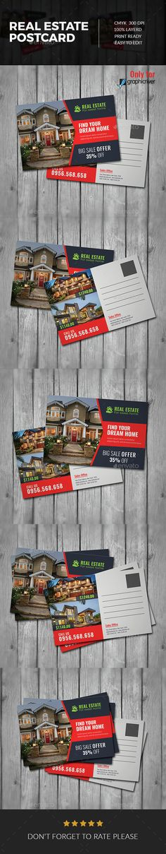 Buy Real Estate Postcard by peachypixel on GraphicRiver. Real Estate Postcard Template is very easy to use and change text,color,size,look and everything because I made it on. Real Estate Leads, Real Estate Tips, Selling Real Estate, Real Estate Investing, Real Estate Flyers, Real Estate Business, Real Estate Marketing, Postcard Template, Postcard Design
