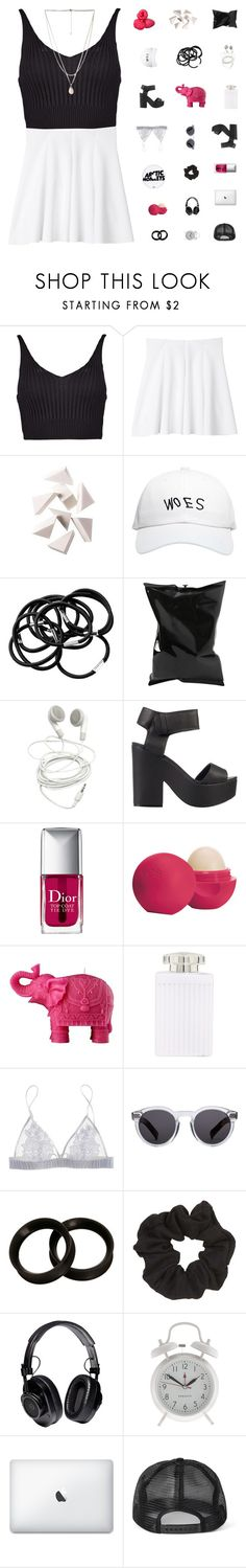 """""""Adenine"""" by bosspresident ❤ liked on Polyvore featuring Boohoo, Monki, Bobbi Brown Cosmetics, October's Very Own, H&M, Anya Hindmarch, Lipstik, Christian Dior, Eos and Mario Luca Giusti"""