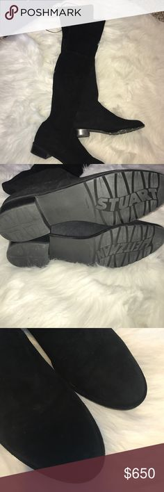 Stuart Weitzman OTK lowland boots. Wore once OTK Stuart Weitzman boots. come with box. Would rather sell these through 🅿️🅿️ Stuart Weitzman Shoes Over the Knee Boots