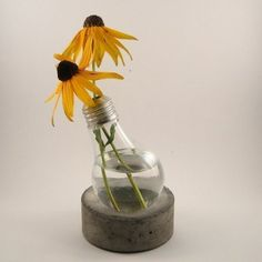 The Dimple Puck - Concrete Lightbulb Stand - $22 at etsy