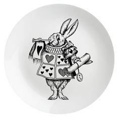The White Rabbit Plate | Eleanor Stuart | Wolf & Badger