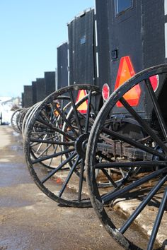 #Amish buggies parked on market day. A regular site here in Lancaster County! amishgazebos.com