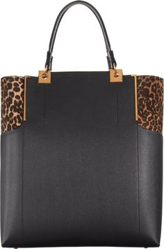 Lanvin Calf Hair Partition Tote in Animal