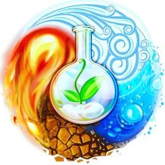 Alchemy, the least understood of the mantic arts. Alchemy is founded on elemental scientific principles. The goal of alchemy is purification, distilling, down to the primordial spirit/energy. 4 Elements, Elements Of Nature, Brain Teaser Games, Fire Tattoo, Avatar The Last Airbender, 7 And 7, Yin Yang, Wicca, Android Apps