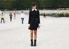 Valentino white collar dress   STYLEHEROINE