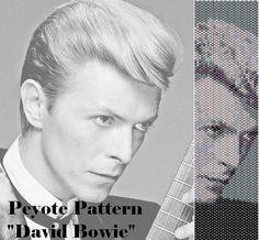 Peyote pattern  for bracelet cuff  David Bowie di LePCCdiMeri, €2.10