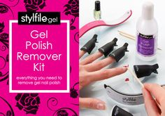 How to remove Gel Nails at home? Gel Polish lasts weeks and looks amazing. It's no wonder it's so popular. However 52% believe it damages the natural nail. Damage is often caused by incorrectly removing gel polish. The Stylfile Gel Polish Remover Kit includes all the products you need to safely and easily remove gel nail polish and leave your natural nails looking and feeling healthy. http://www.secretfashionfixes.ie/gel-polish-remover-kit-in-presentation-box/gelremoverkitboxpd.html