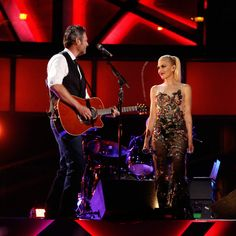 Blake Shelton and Gwen Stefani perform romantic duet he co-wrote to 'impress' her