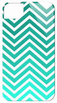 Just Chevron Ombre Teal Phone Case