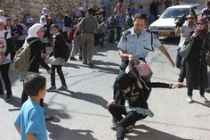 Harassment to this most Shameful degree  ~  Israel terrorizing young girls since 1948, the only democracy in the ME????