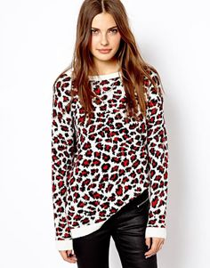 Mango Animal Print Jumper - Now on http://ootdmagazine.com/store/product/mango-animal-print-jumper/ #fashion