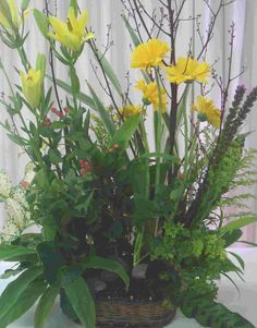 moss floral arrangements | Nature has always been and is our teacher. And creating something as ...