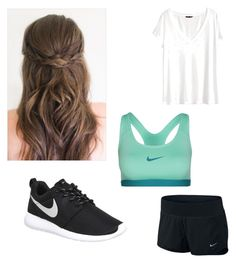 """""""5/26 ootd"""" by bekahmartinez ❤ liked on Polyvore featuring NIKE and H&M"""