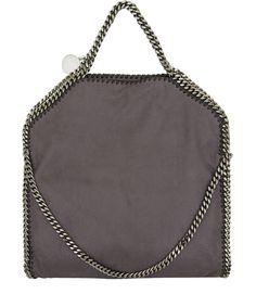 Stella McCartney Grey Falabella Shaggy Deer Fold-Over Bag | Women's Bags | Liberty.co.uk
