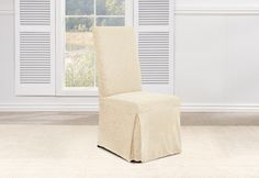 Sure Fit Slipcovers Stretch Ava Long Dining Chair Slipcovers - dining chair