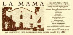 Menú calçotada por sólo 24'90€ en el restaurante La Mama de Santa Eulàlia de Ronçana