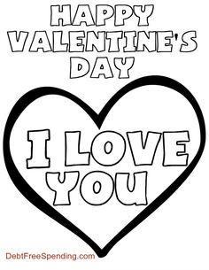 Free printable Valentine's Day Coloring Page.