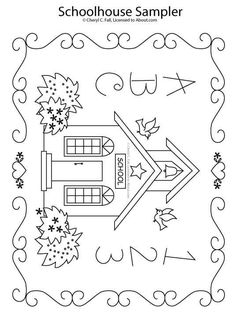 cute free pattern with directions to embroider and even color .  materiales patchwork