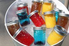 Mason Jar Cocktails: Screwdriver, Tiki Fruity Punch, Blue Lagoon, Half and Half recipes