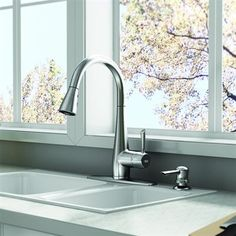 Shop American Standard Olvera Stainless Steel Pull Down Sink/Counter Mount  Traditional Kitchen Faucet At Loweu0027s Canada. Find Our Selection Of Kitchen  ...