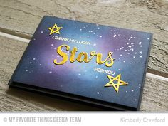 creating a galaxy background with inks video tutorial. Products from MFT Stamps.