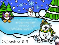 Winter Facebook Frenzy. Tons of winter freebies!