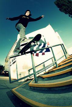 Back tail slide #street #skateboarding