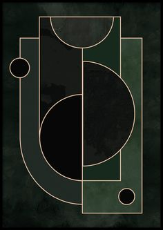 Abstract Forms no.1 Poster