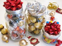 Gifts in a Jar: 12 Gift Ideas for Under $15  ☀CQ #christmas #holiday #homemade #gifts #crafts #DIY