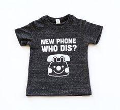 New Phone Who Dis Unisex Kids Tee