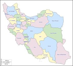 The 31 Provinces of Iran.