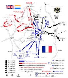 Battle of Waterloo - Wikipedia, the free encyclopedia. Excellent detail.