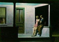 """Summer Evening,"" 1947.  INTERVIEW: An Interview with Edward Hopper, June 17, 1959"