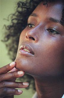 Waris Dirie - Human Rights Activist and former model from Somalia. She is educating and fighting against female circumcision.