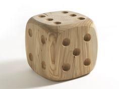 Buy online Dadone small & big By riva solid wood stool design Andrea Castrignano Log Furniture, Solid Wood Furniture, Furniture Design, Wood Projects, Woodworking Projects, Articles En Bois, Objet Deco Design, Wood Dice, Designer Bar Stools
