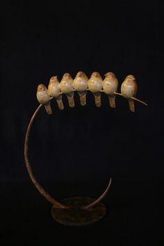 "Artist Adam Binder; Sculpture, ""Seven Sparrows - Limited Edition of 12"""