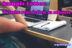 Sample Writing 4 (Letter - Website Restriction in Schools) Freedom Of The Press, Freedom Of Speech, American Union, English Exam, School Computers, Letter To The Editor, Sample Essay, On The Issues, After School