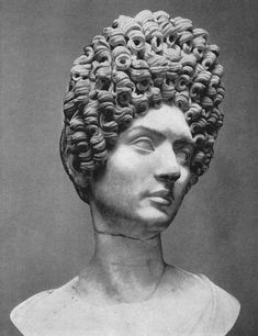 Portrait bust of a young woman (Julia, daughter of Titus) 80s—90s A.D. (Rome, Capitoline Museums, Palazzo Nuovo, Hall of the Emperors)