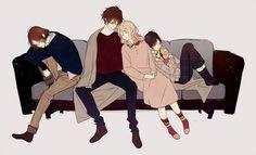 Diabolik Lovers (More Blood)- Laito, Ayato, Yui, and Kanato  #Anime #Game #Otome