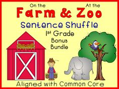 READING LEVEL: 1st Grade - Farm and zoo bonus bundle packet. (paid)