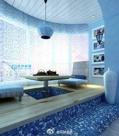 【环球家居】清爽简洁地中海风格,蓝色马赛克~…_来自sc期待的图片分享-堆糖网