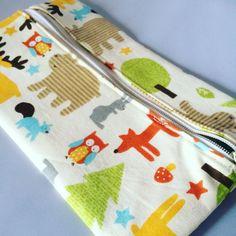 Woodland Animals Zipper Pouch Pencil Case Kids by LuminaryFinds