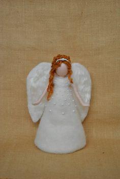Christmas  Angel Tree Topper Waldorf Inspired : Angel by MagicWool