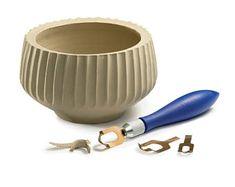 SET in ceramica FLUTING TOOL, texture di superficie di argilla, scultura ceramica modello concavo, ruota gettando strumento, strumento, ciotole vasi Texture Maker