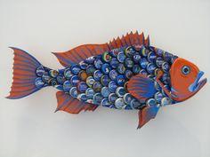 Universidad de la Florida arte chapas Metal botella tapa pescado mero